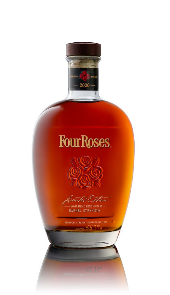 Four Roses 2020 small batch bourbon bottle