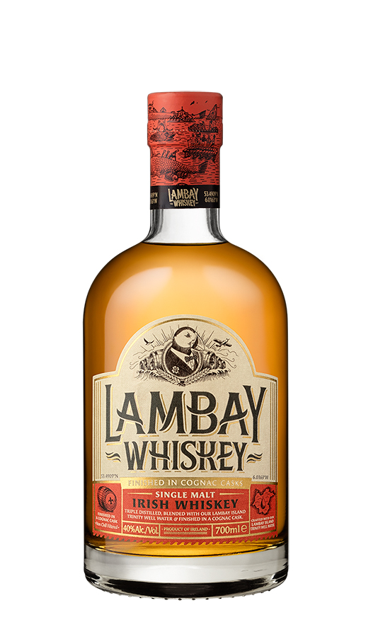 Lambay Irish Whiskey Single Malt bottle