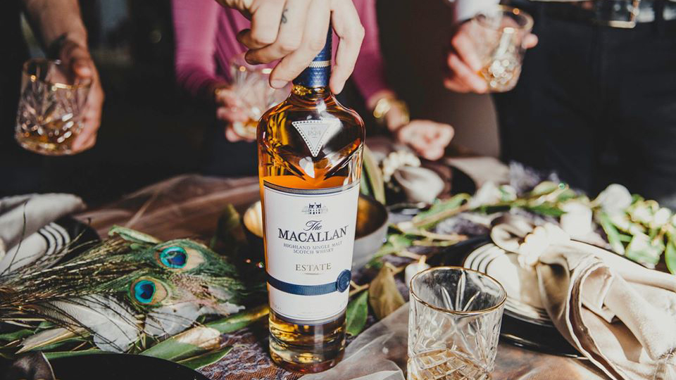 The Macallan Estate with glasses