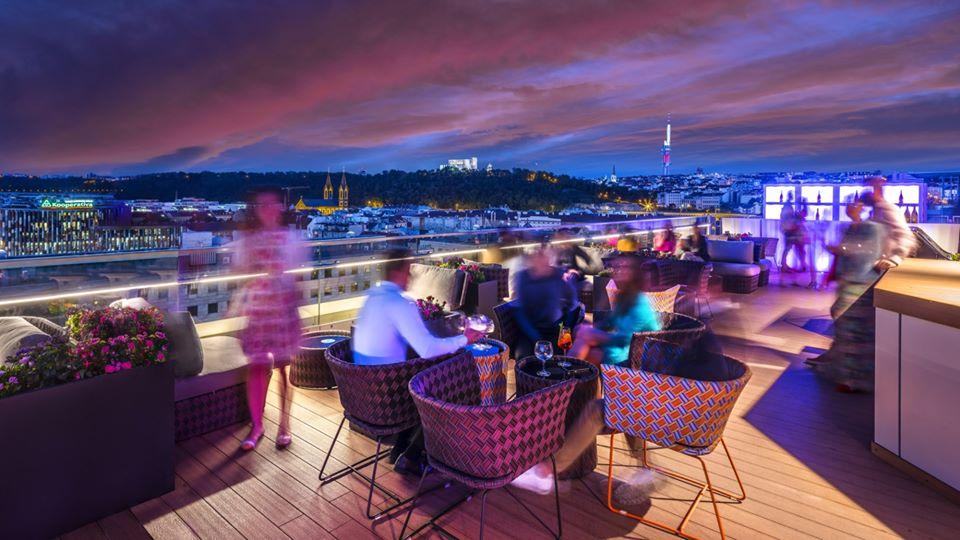 Cloud 9 Sky Bar Prague Hilton Going Bananas Party Series