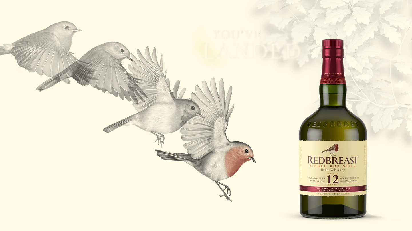 Redbreast 12 Year Old with birds