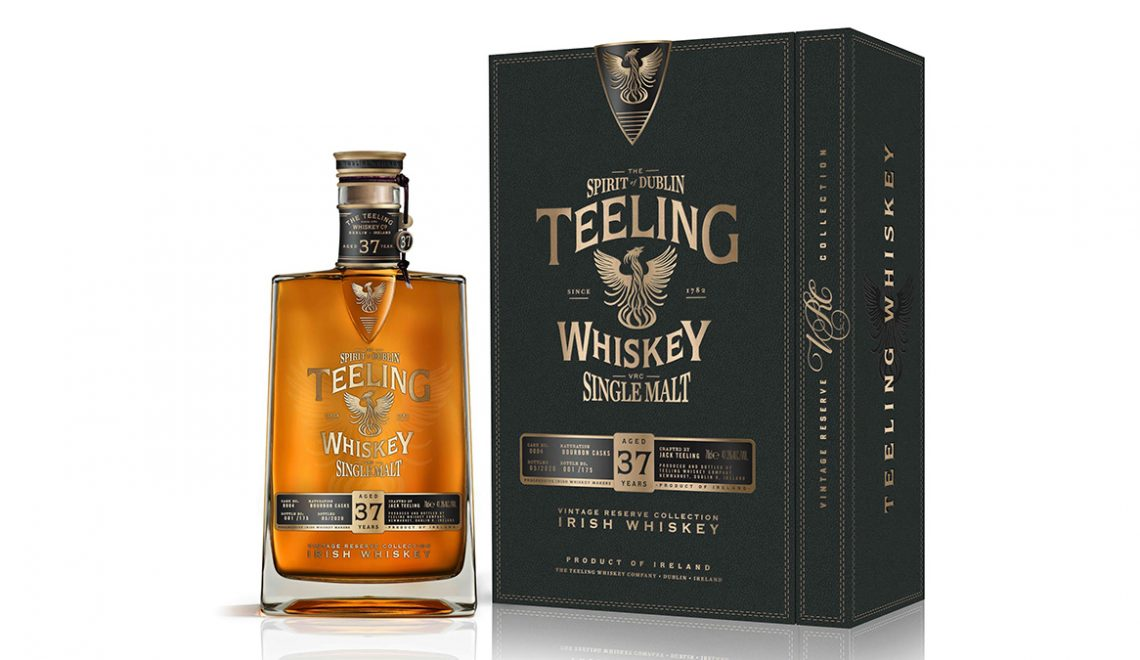 Teeling 37 Year Old Irish Single Malt Whiskey Joins Irish Distiller's Vintage Reserve Collection