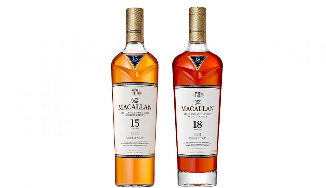 The Macallan Double Cask Range 15 and 18