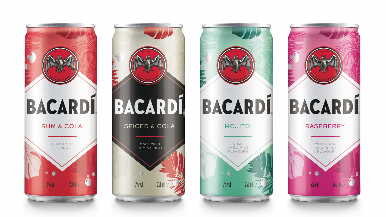 Bacardi Ready-To-Drink Canned Cocktails UK