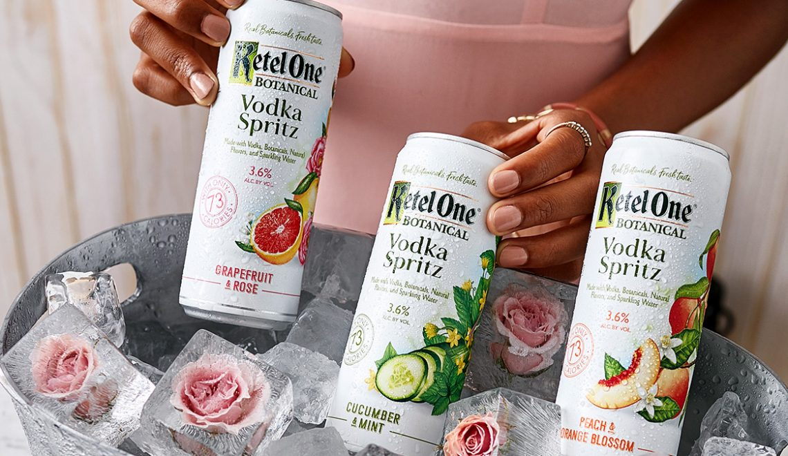 Ketel One Botanical Vodka Spritz cans