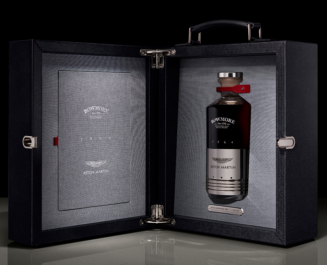 Aston Martin And Bowmore Launch Black Bowmore DB5 1964 Auctioning