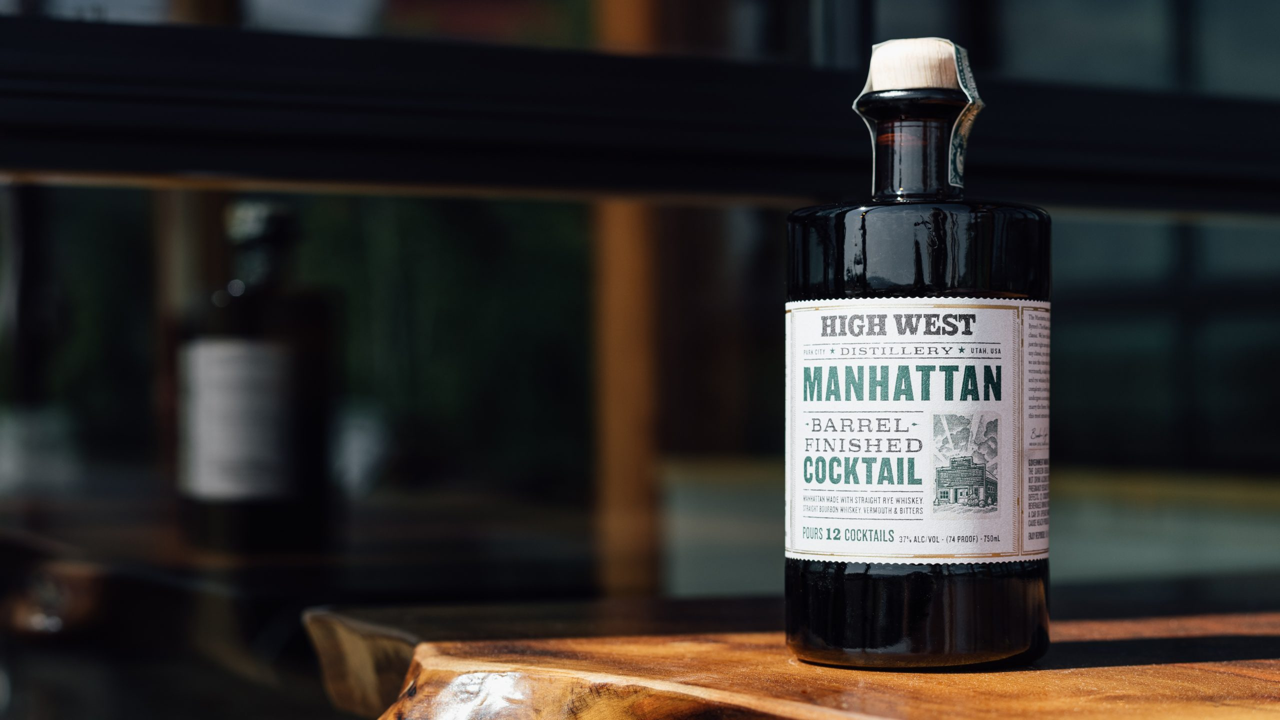High West bottled cocktail Manhattan