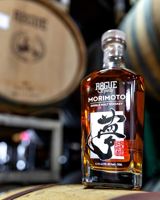 Rogue Morimoto Single Malt Whiskey vertical