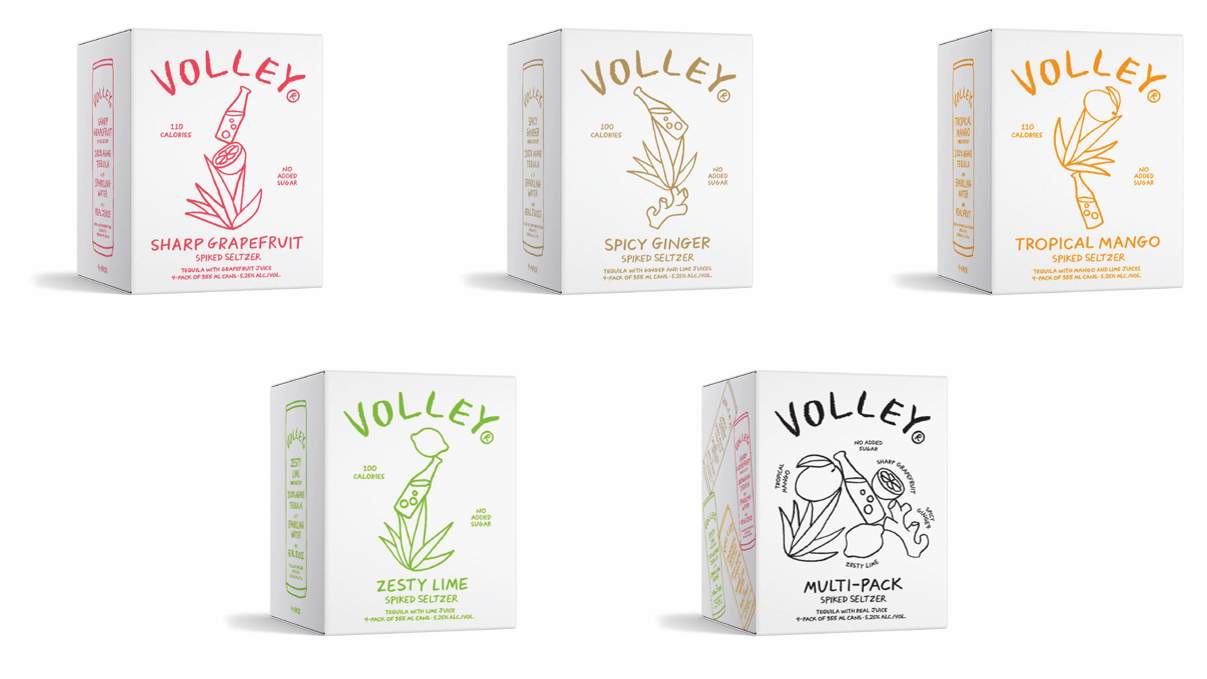 Volley Canned Cocktails Boxes