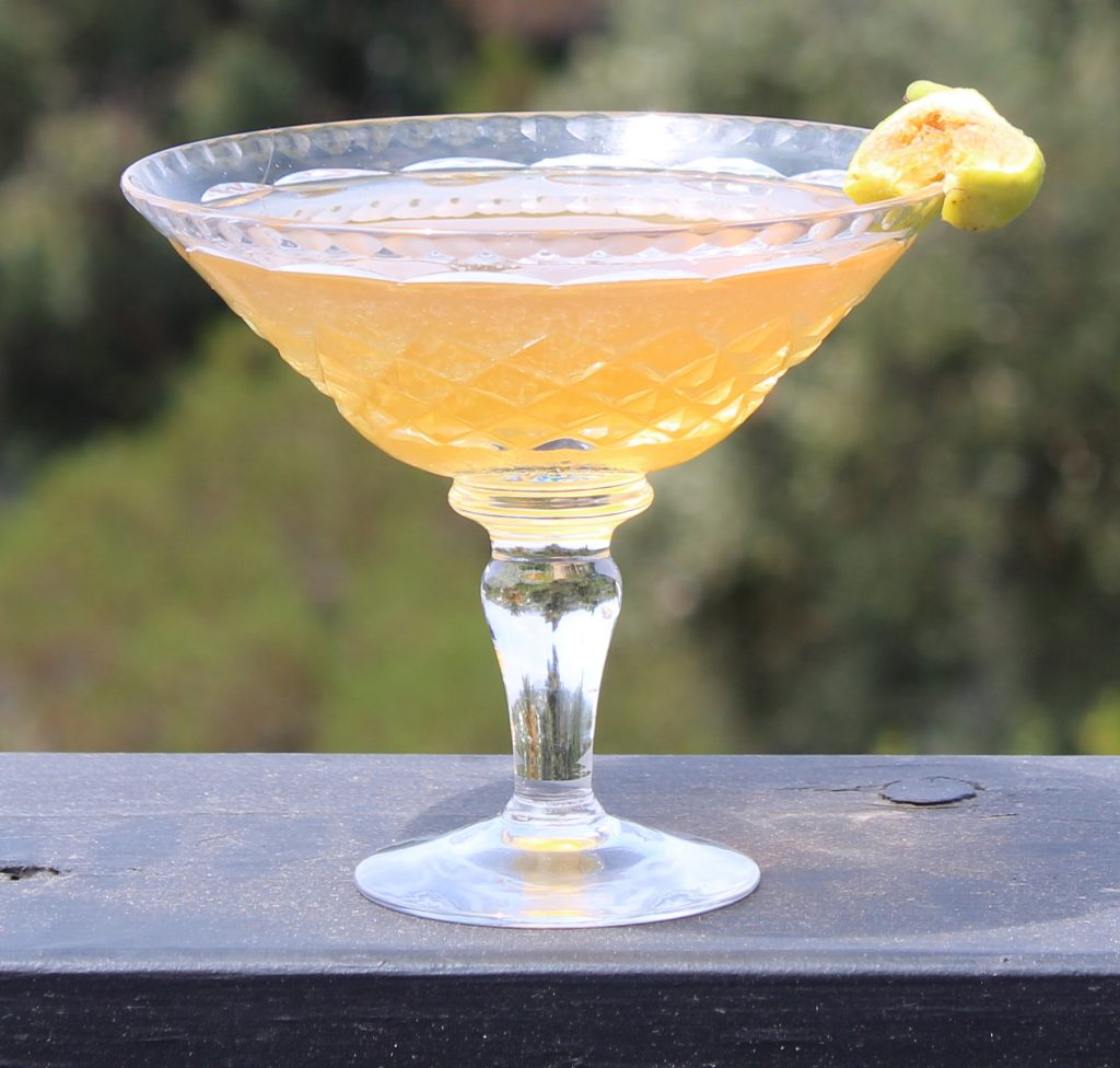 fields of gold cocktail glass