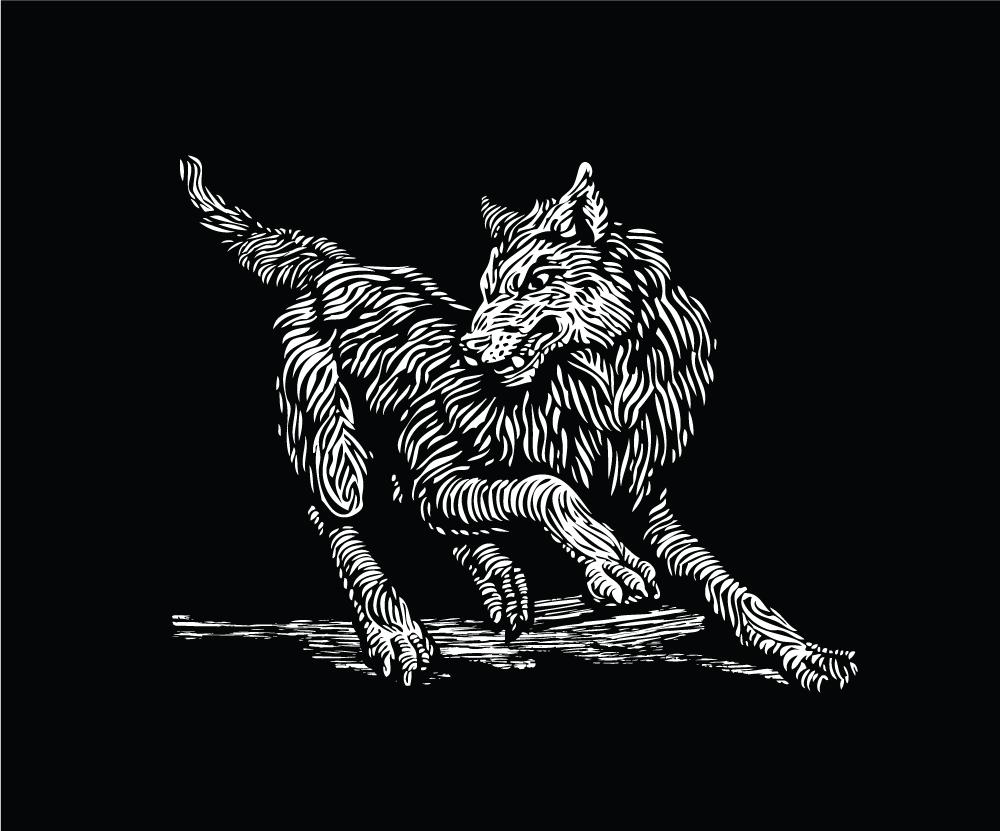 Montelobos Espadin wolf logo
