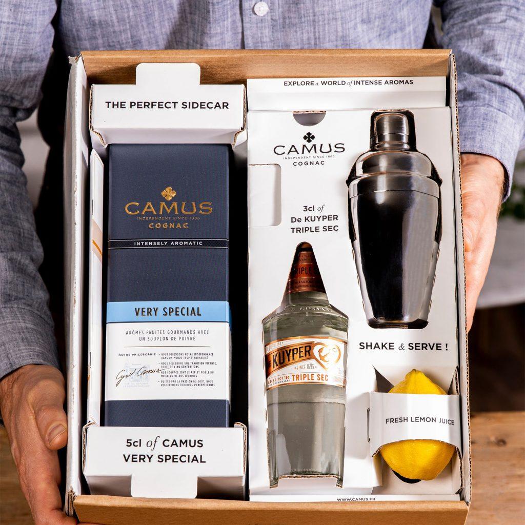 Camus Cognac Sidecar Cocktail Kit case