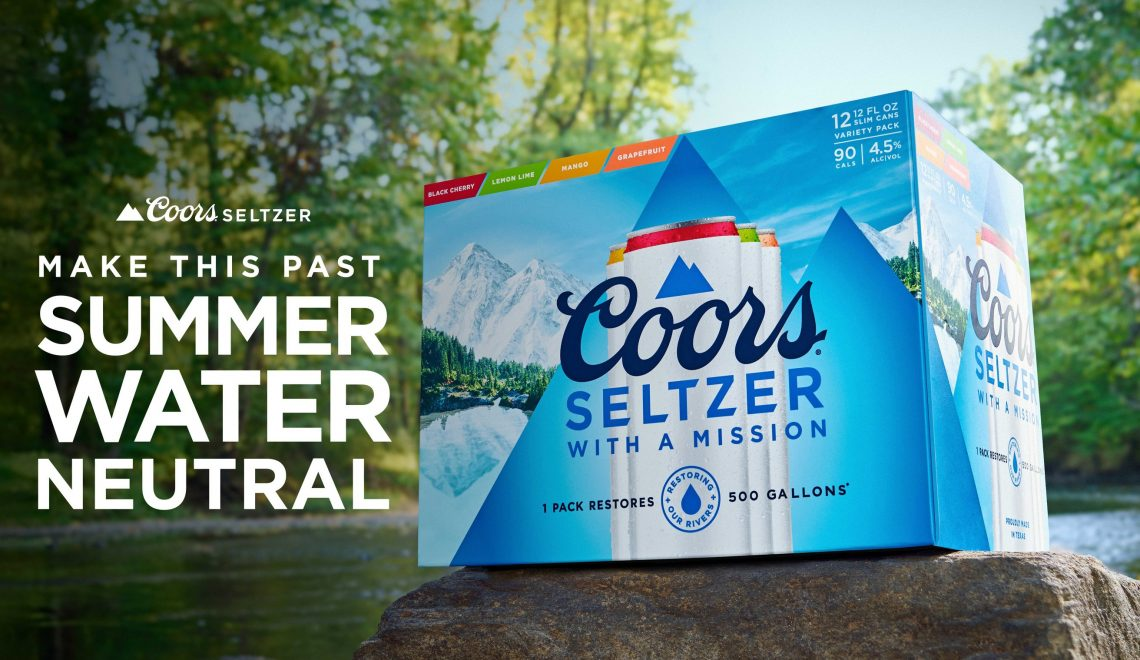 Coors Unveils Hard Seltzer That's Committed To Saving America's Rivers By Giving You A Free 12-Pack