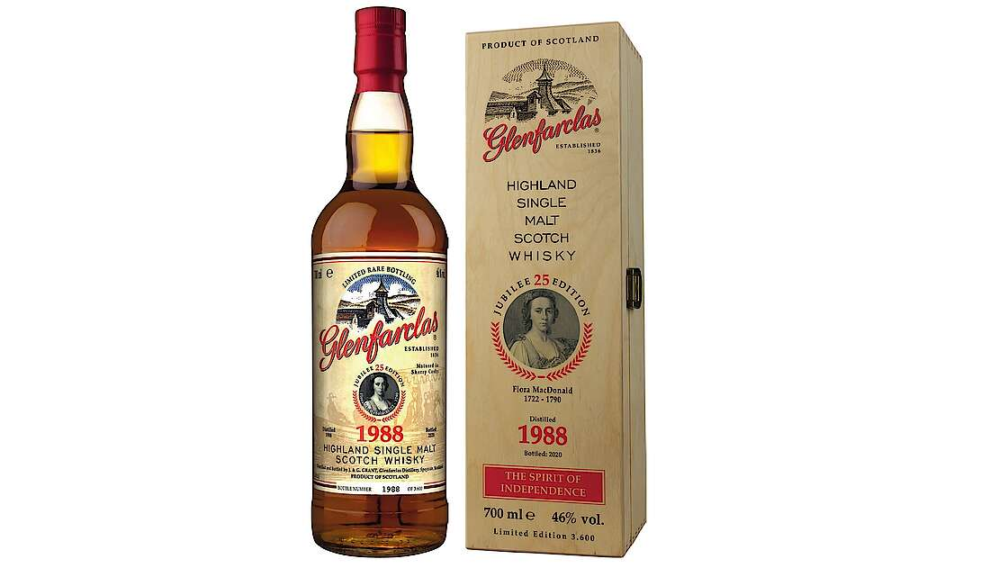 Glenfarclas Unveils 1988 Vintage Honoring Flora MacDonald, The 25th Edition of Famous Scots Series