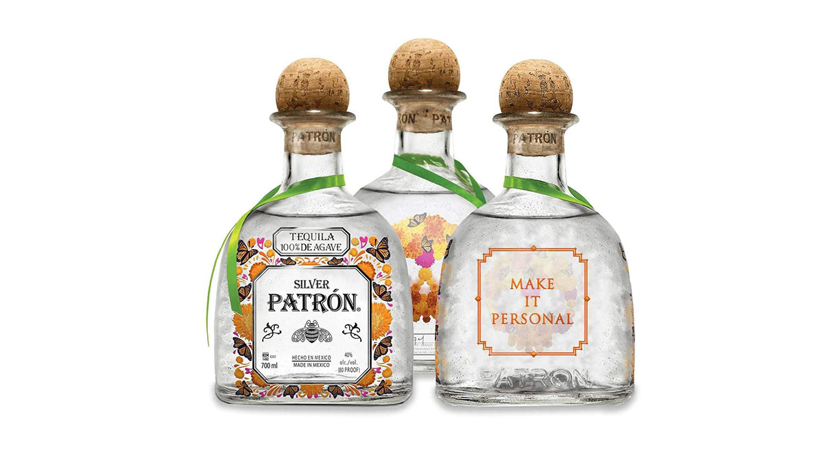 Patron Tequila Day of the Dead Dia De Muertos Bottles