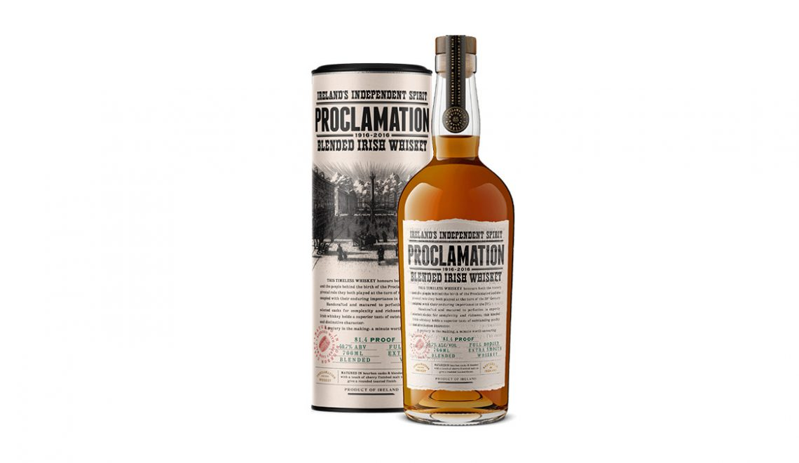 Proclamation Blended Irish Whiskey Launching In United States