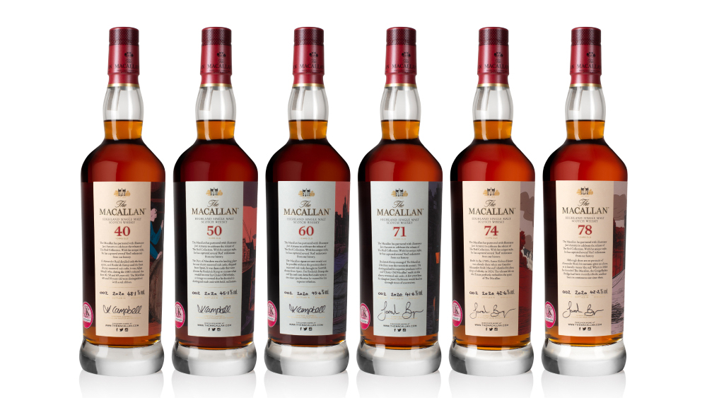 The Macallan The Red Collection Bottles Front
