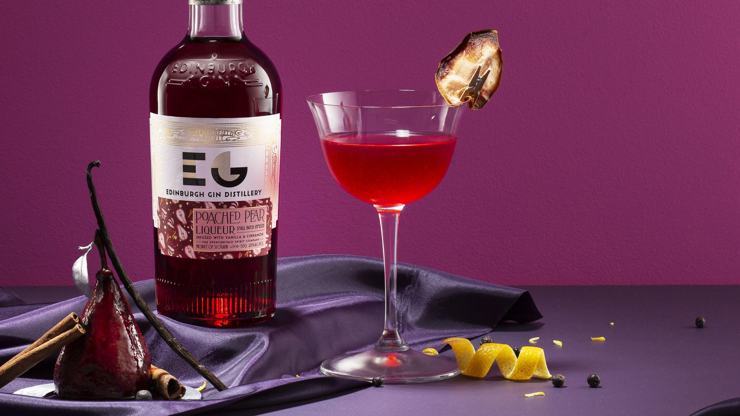 edinburgh gin poached pear liqueur