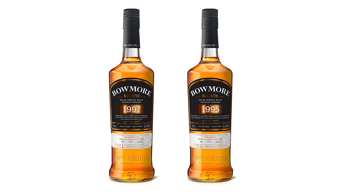 Bowmore 1995 and 1997 single cask whiskies