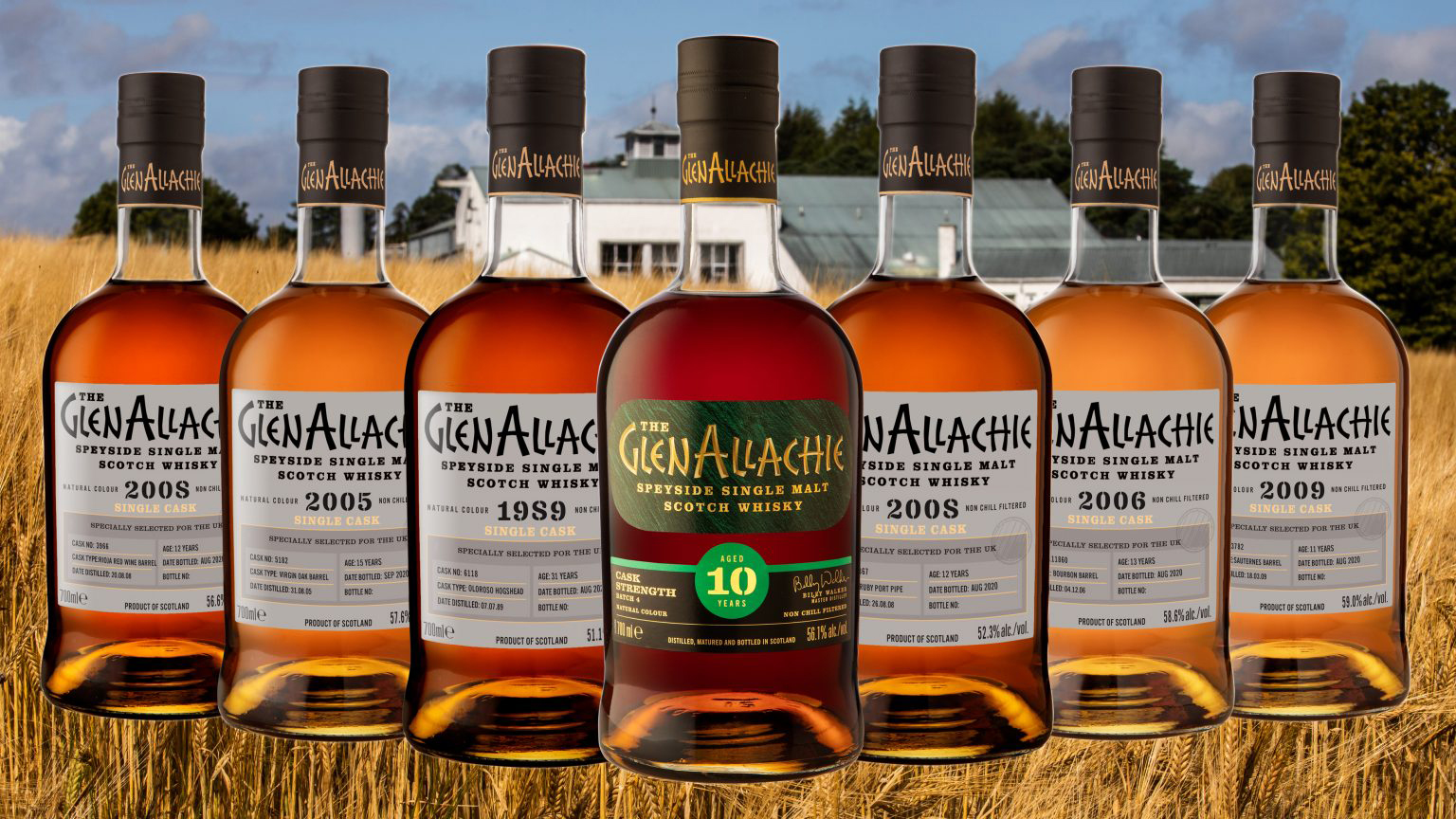GlenAllachie Launches 10 Year Old Cask Strength Batch 4 And Six Single Cask Whiskies