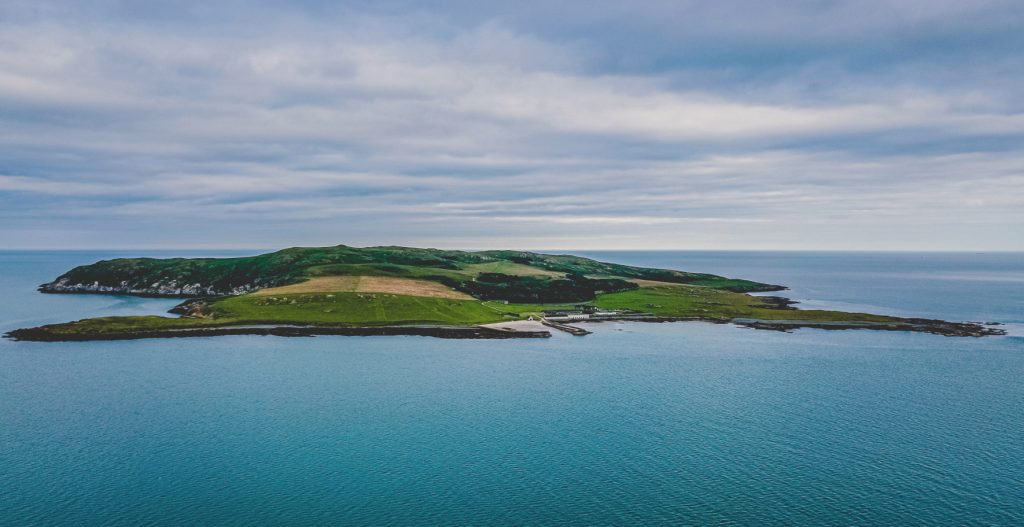 Lambay Island from distance