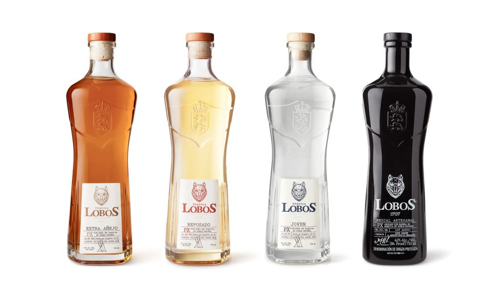 Lobos 1707 Tequila Mezcal lineup