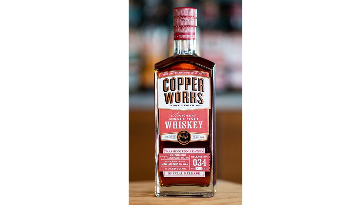 Copperworks Washington Peated Single Malt Whiskey