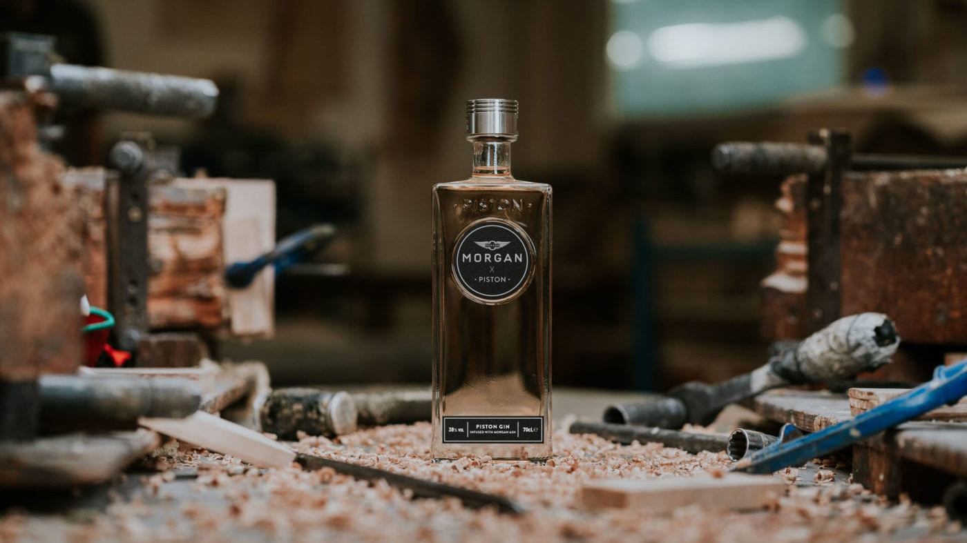 Morgan x Piston Gin infused with ash wood