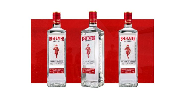 Beefeater GIn sustainable bottle