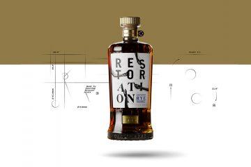 Castle & Key Restoration Rye Whiskey bottle