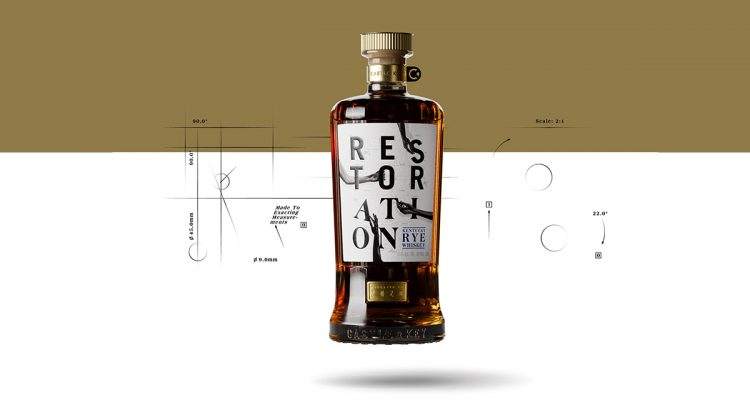 Castle & Key Restoration Rye Whiskey bottle