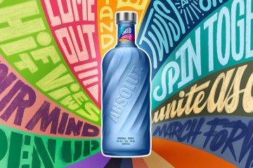 Absolut 2021 sustainable bottle vodka edition