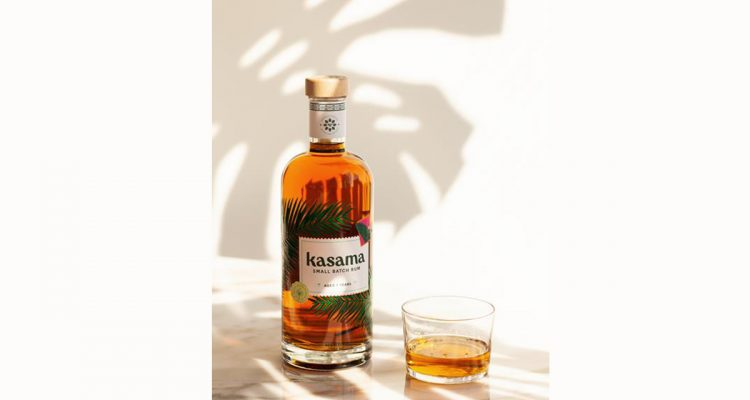 Kasama Rum bottle and glass