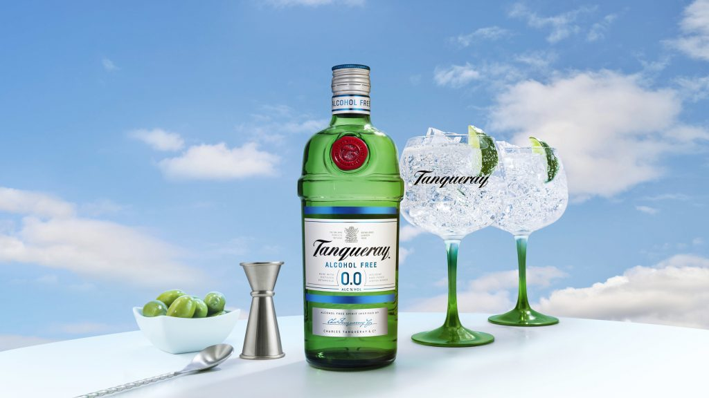 Tanqueray 0.0% alcohol free bottle