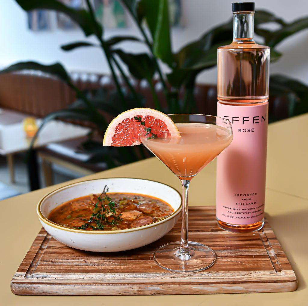 Kia EFFEN Rosé Vodka Grapefruit Cocktail x Gumbo Recipe (2)