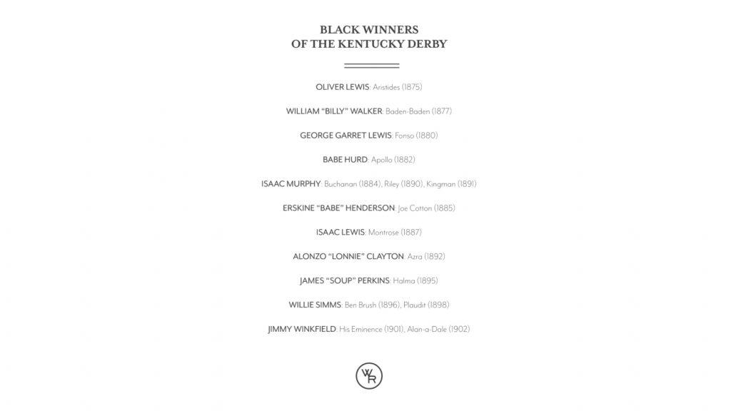 Black Winners of the Kentucky Derby