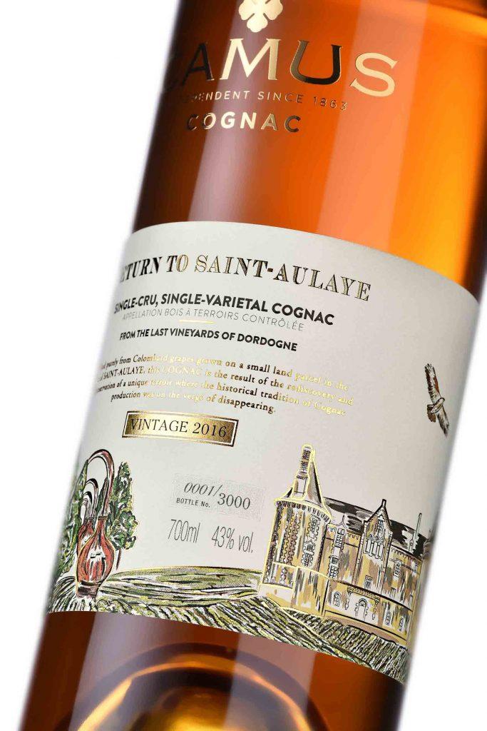 Camus Return to Saint-Aulaye side bottle