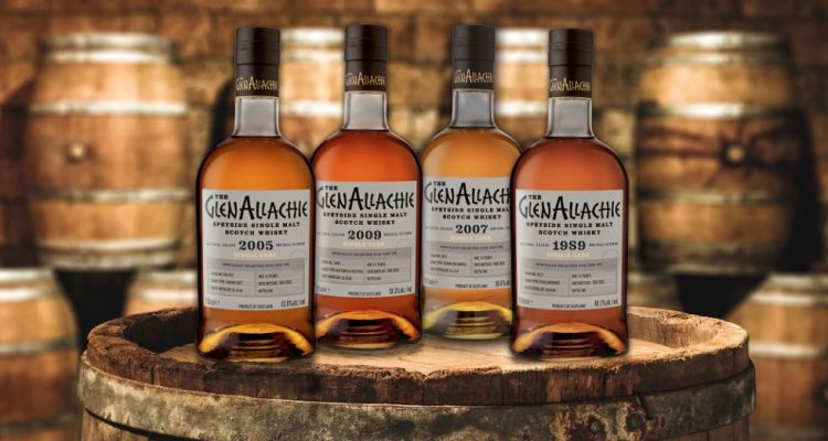 GlenAllachie single cask whiskies