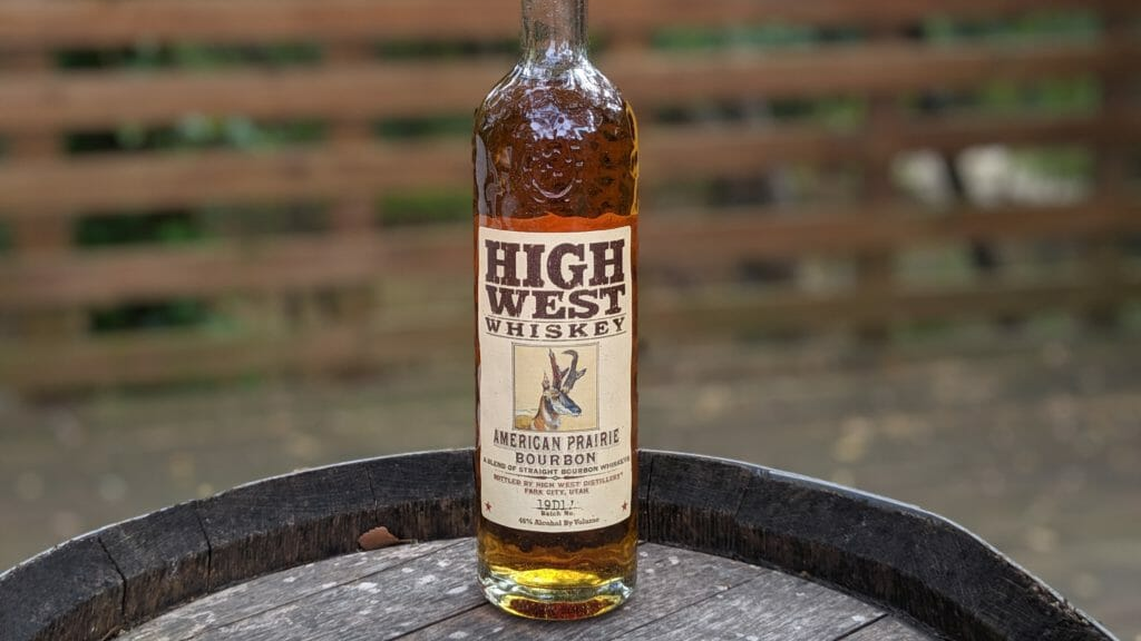 Sustinable Spirits earth day high west american prarie bourbon