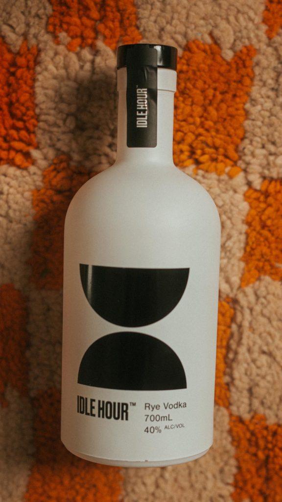 Idle Hour vodka bottle