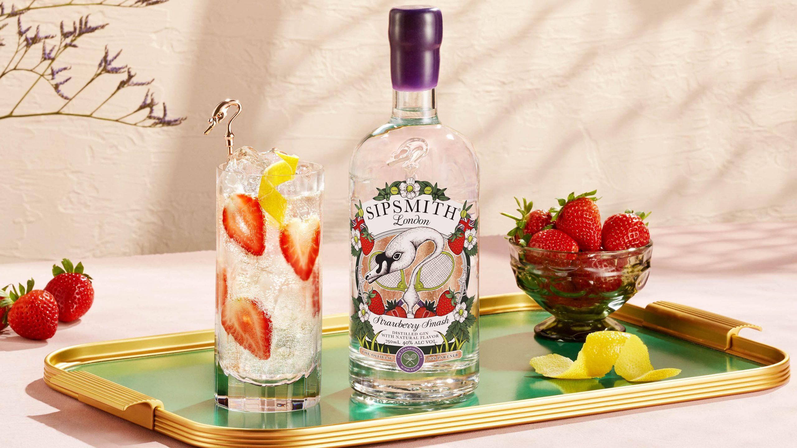 Wimbledon Sipsmith Strawberry Smash Gin Collins